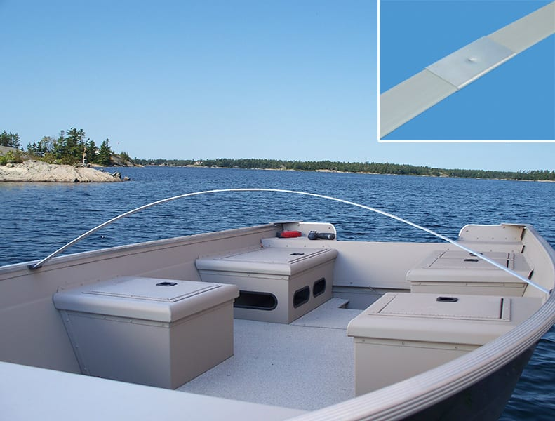 Bow Of A Boat >> Boat Cover Bows Dock Edge
